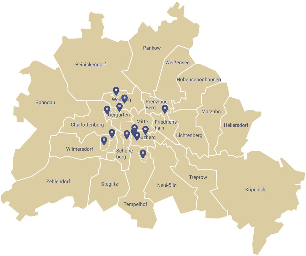 WOONWOON Standorte Wohnungen Berlin